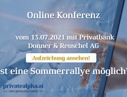 Replay der Online Konferenz mit der Privatebank Donner & Reuschel AG